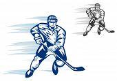 Hockey Player In Sports Uniform