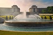 Gardens Of The Trocadero: Chaillot Palace And Fountain Of Warsaw, Paris, France poster