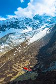 View Of The Area Near The Cave Of Milarepa, Nepal. poster
