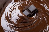 Melts  Black Chocolate Bar. Dark Chocolate Background poster