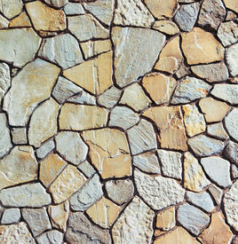 stock photo of stone floor  - Background of stone wall texture  - JPG