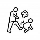 Black Line Icon For Hostile Enemy Rancorous Malicious Jealous poster