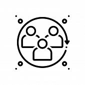 Black Line Icon For Humanities Humankind Humans Human-beings Humanity The-human-race poster
