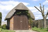 Thatched Garage Near Bognor Regis. Sussex. Uk