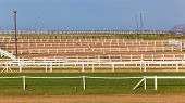 Equestrian Horse Training Paddock Fences Track poster