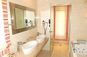 Bathroom In The Luxury Apartment, Pieria, Greece