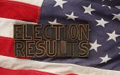 election results on USA flag