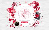 Valentine Day Love Isolated Vintage Black Hand Lettering Calligraphy Handwriting Penmanship Inscript poster