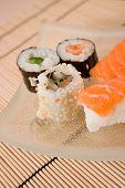Assortement Of Japanese Sushi