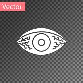 White Reddish Eye Due To Viral, Bacterial Or Allergic Conjunctivitis Icon Isolated On Transparent Ba poster