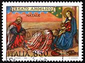 Postage stamp Italy 1995 Adoration of the Magi by Fra Angelico