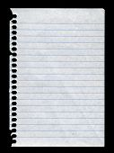 picture of lined-paper  - piece of lined paper torn from notebook - JPG