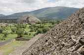 Pyramid Of The Moon From The Steps Of The Pyramid Of The Sun, In Teotihuacan, An Ancient Mesoamerica poster