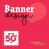 Editable Post Template Social Media Banners For Digital Marketing. Discount Web Banner. Email Ad New poster