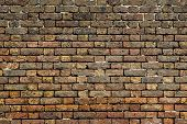 Old brick wall background front view