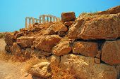 picture of poseidon  - Ancient Greek temple of Poseidon  - JPG