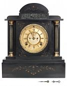Antique Clock With Roman Numerals