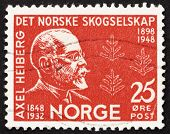 Postage stamp Norway 1948 Axel Heiberg, Norwegian Diplomat
