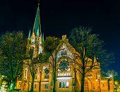 Sandefjord Kirke, Church In Sandefjord, Norway, Scandinavia poster