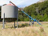 Agricultural metal fodder fermenting silo storage