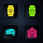 Set Smart Watch With Smart House And Alarm, Smart House And Alarm And Smart Watch With House Under P poster