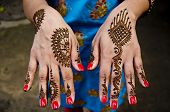 Artistic Henna artwork designs applyed at Indian Wedding celebrations