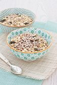 Bowls Of Oats With Nuts And Seeds
