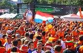 Holland Football Team Supporters Walk On A Street Of Kharkiv City, Ukraine