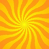 Orange Yellow Background Superhero. Super Hero Cartoon Gradient Texture. Sun Rays Burst. Radiate Sun poster