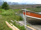Rental Boat At Talbot Lake In Jasper National Park