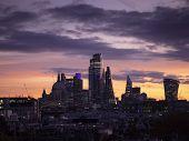Epic Dawn Sunrise Landscape Cityscape Over London City Sykline Looking East Along River Thames poster