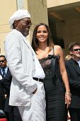 LOS ANGELES - APR 3: Halle Berry, Samuel L Jackson at a ceremony where Halle Berry is honored with a