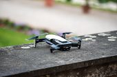 Drone Copter Flying With Digital Camera.drone With High Resolution Digital Camera. Flying Camera Tak poster