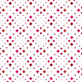Abstract Seamless Crimson Geometrical Square Pattern Background - Red Vector Graphic Design From Dia poster