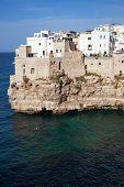 city view of Polignano a Mare  Apulia Italy poster