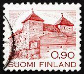 Postage stamp Finland 1982 Hame Castle, Hameenlinna, Finland