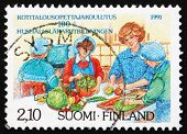 Postage stamp Finland 1991 Home Economics Education