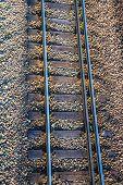 The railroad track