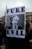 People Celebrate The Death Of Ex British Prime Mister Margret Thatcher At The Thatcher Is Dead Party