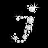 Luxury jewelry alphabet diamonds i