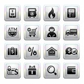 Shopping Icons. square gray. Web 2.0 icons
