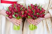 Red Tulip Weddding Bouquets