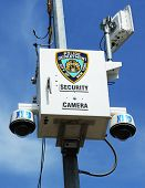 NYPD security camera placed at the intersection in Staten Island, NY