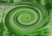 Remolino verde rápido
