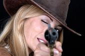 Beautiful Cowgirl Shooting