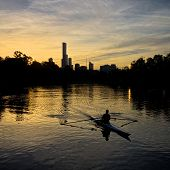 Rowing on the Yarra in Melbourne
