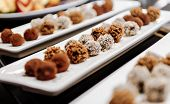 stock photo of dessert plate  - Photo of chocolate truffles - JPG