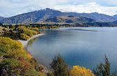 Glendhu Bay In Autumn, Otago New Zealand