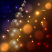 Vector abstract star and pearl dark background