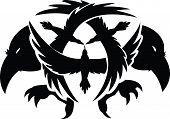 crow silhouetts vector arts